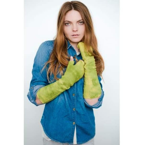 Mod Long Fingerless Gloves - Forest