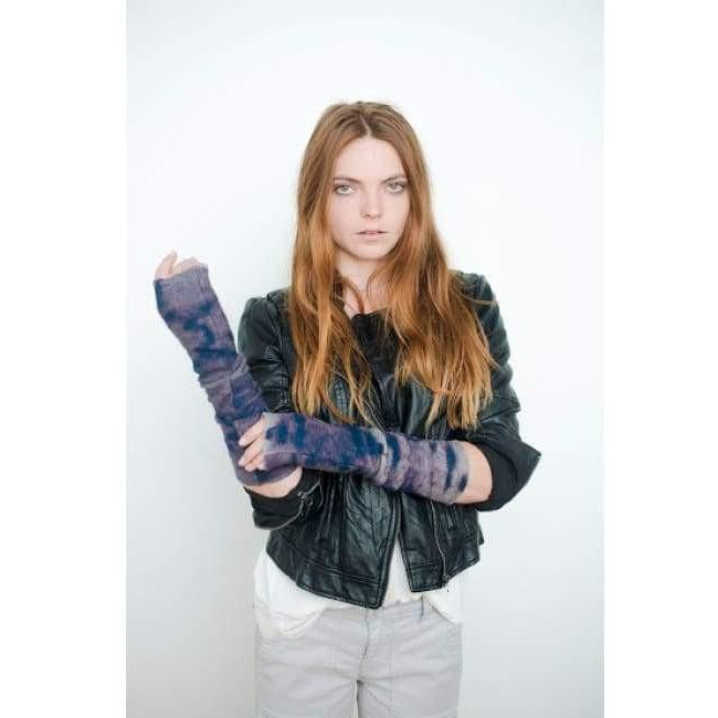 Mod Long Fingerless Gloves - Indigo - Miraposa