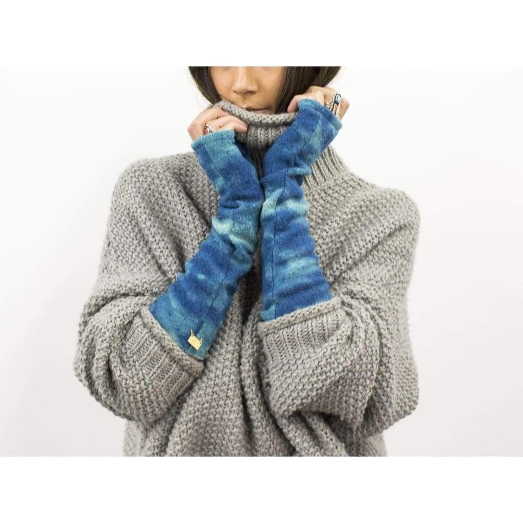 Mod Long Fingerless Gloves - Turquoise