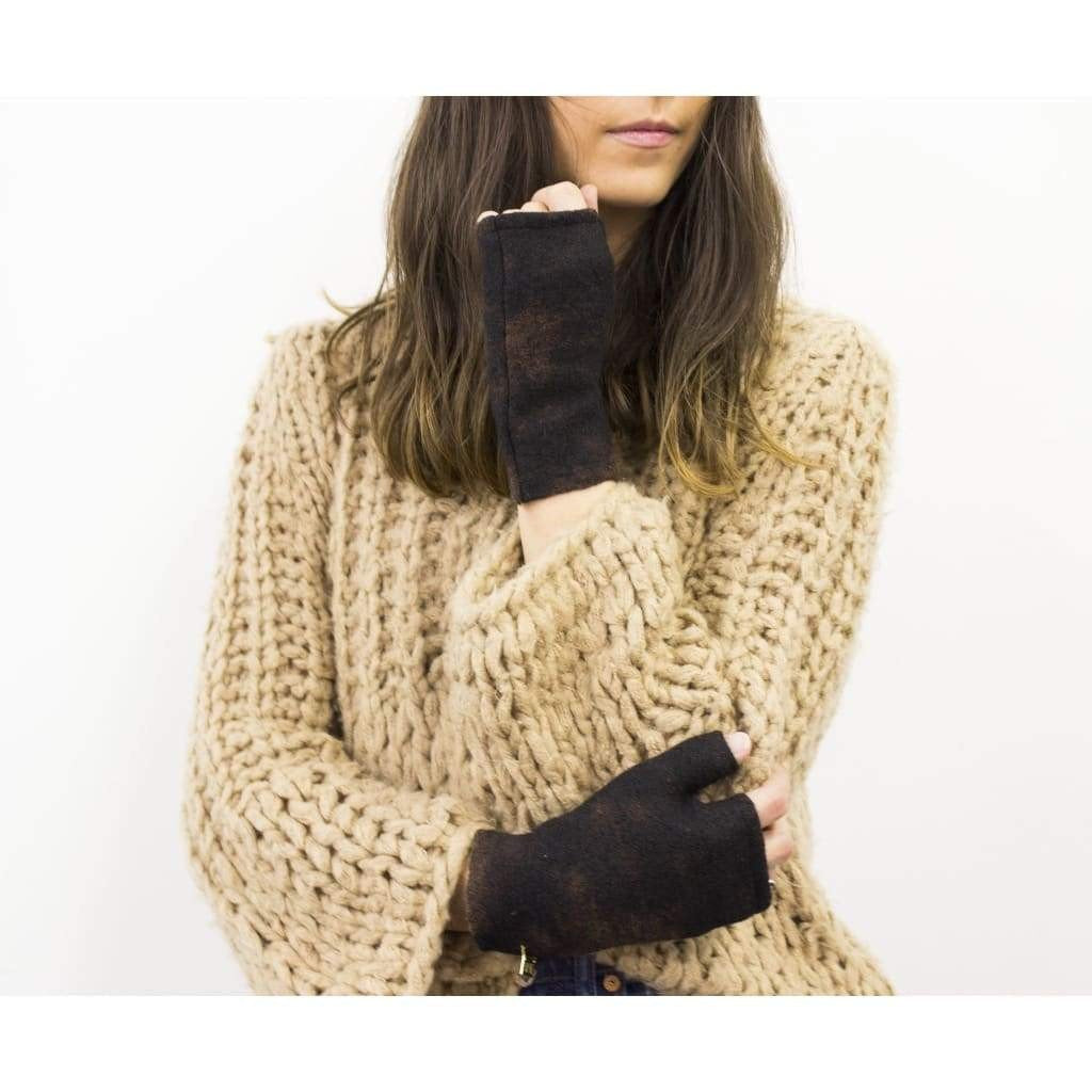 Mod Short Fingerless Gloves - Onyx