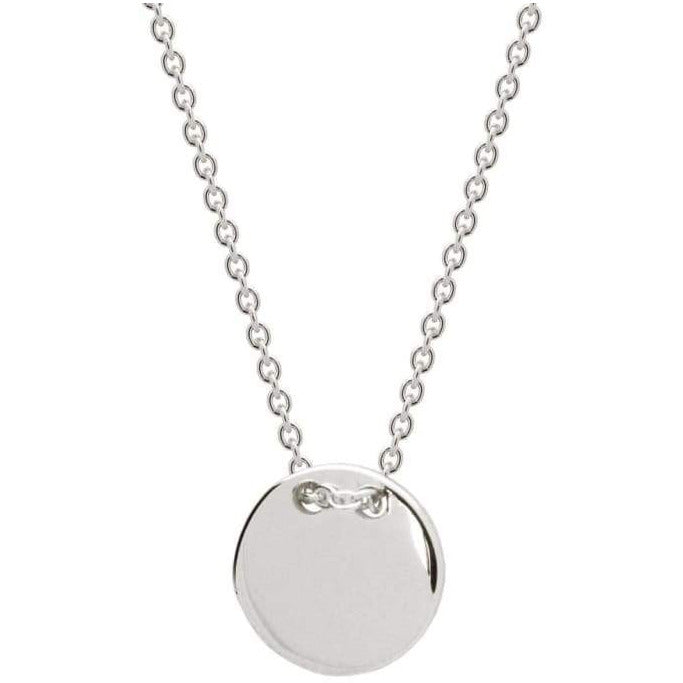 Sterling Silver Engravable Initials Disc Necklace - Miraposa