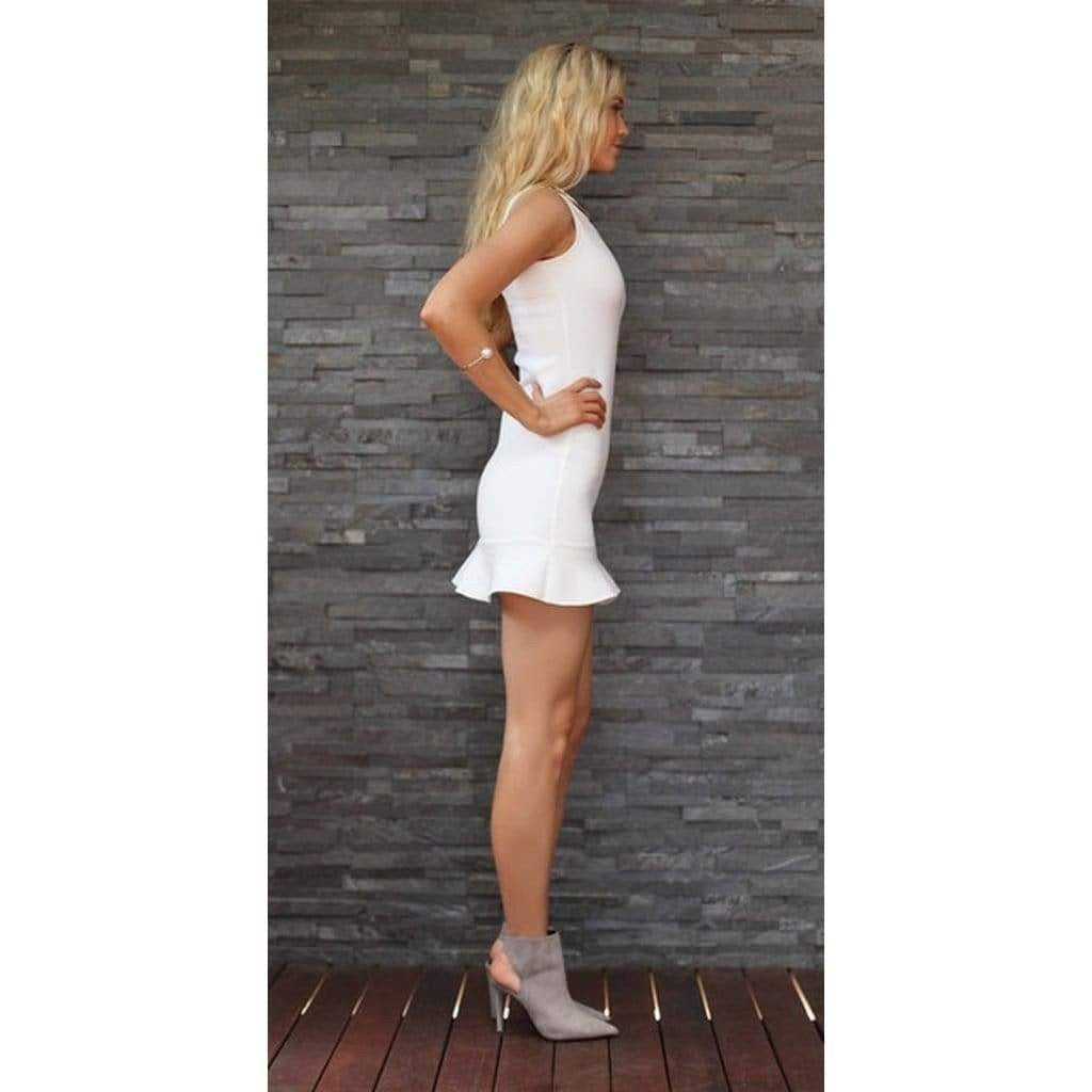 5246bd883c1a Ting-A-Ling Tiffany Dress - White - Women - Apparel - Dresses -