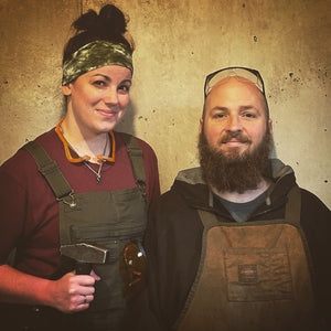 The Wheelis Forge team, Joe and Alaina