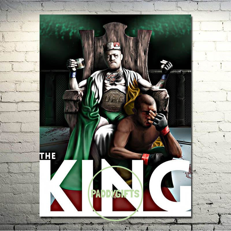 Conor Mcgregor The King Silk Poster