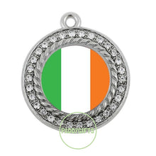 Charms Rhodium/silver Plated Ireland Flag