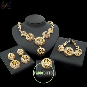 Irish High Quality Jewellery Set With Necklace Bracelet Earrings And Ring