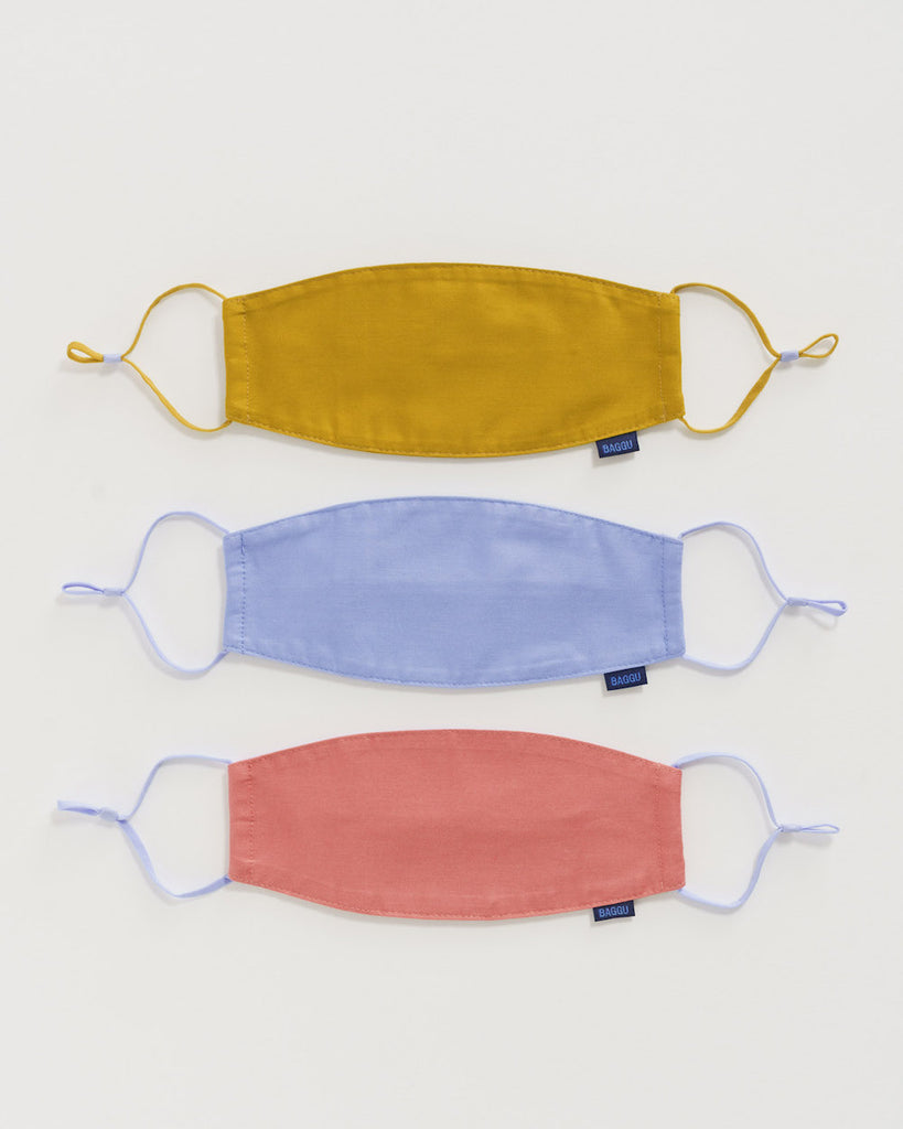 Baggu Fabric Mask Set in Patio