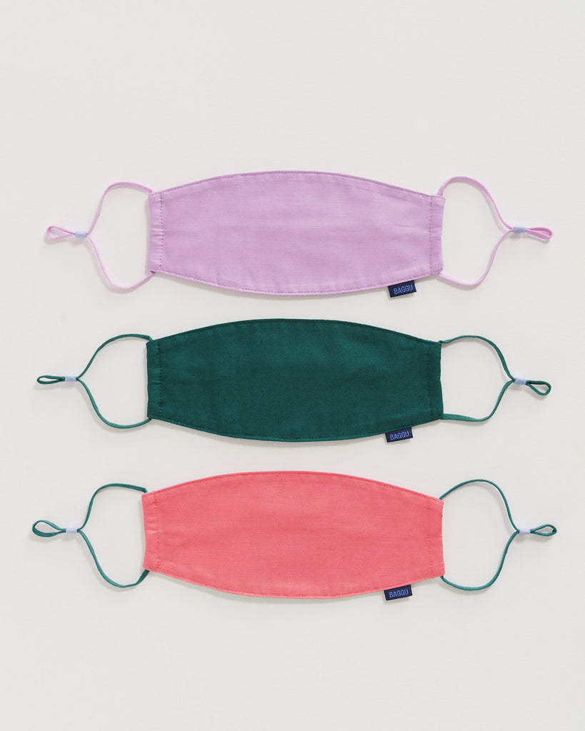 Baggu Fabric Mask Set Loop in Watermelon Slice