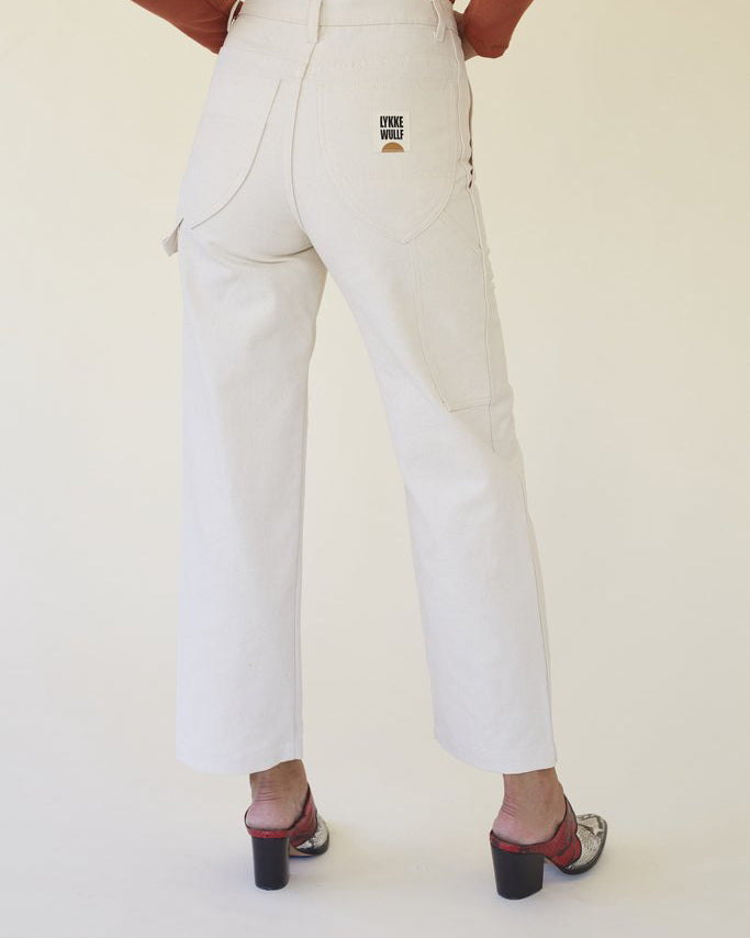 Pre-order Lykke Wullf Montana Painter Pant in Cream Canvas