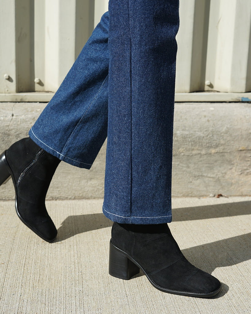 Intentionally Blank More Hugs Boots in Black Suede