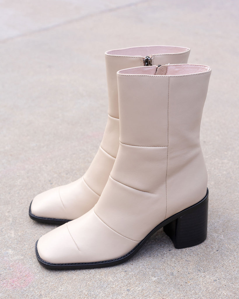 Intentionally Blank MORE HUGS Boots in Cream