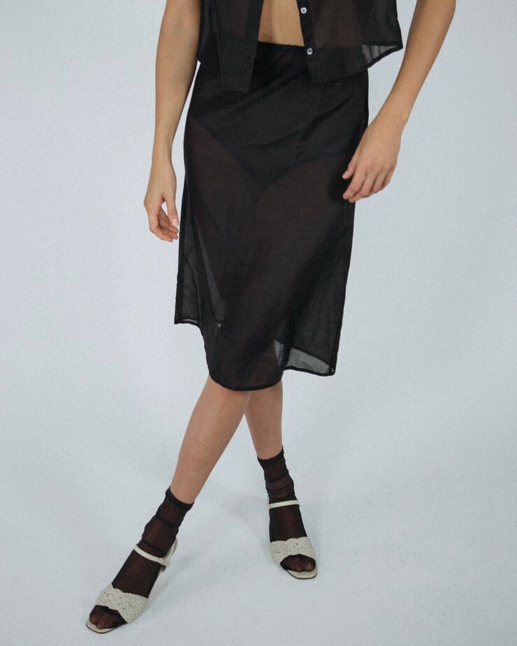 Angie Bauer Carly Skirt in Black