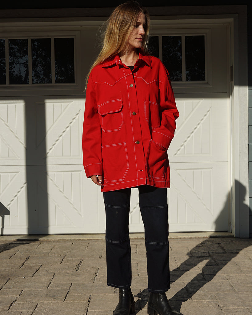 Lykke Wullf Theodore Jacket in Red