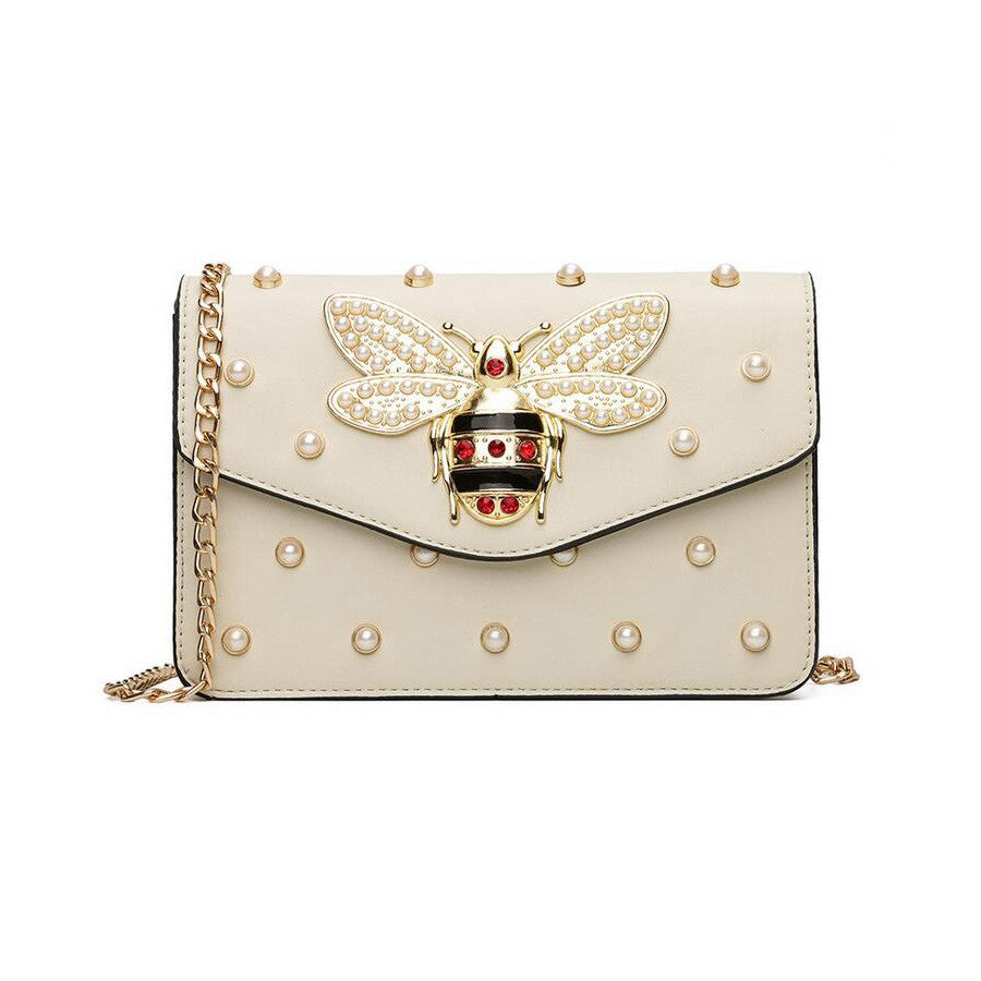 97f5d4811a43 Luxury Pearl Bee Gucci Inspired Bag – Money Move Styles