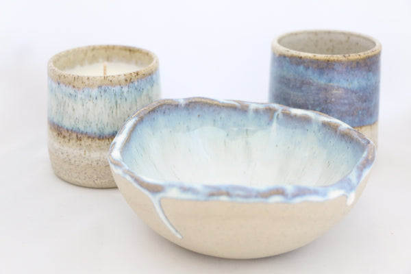 """Pacific""  Ceramic Bowl Candle"