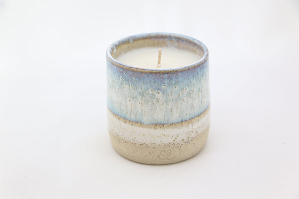 """Sea"" Ceramic Cup Candle"
