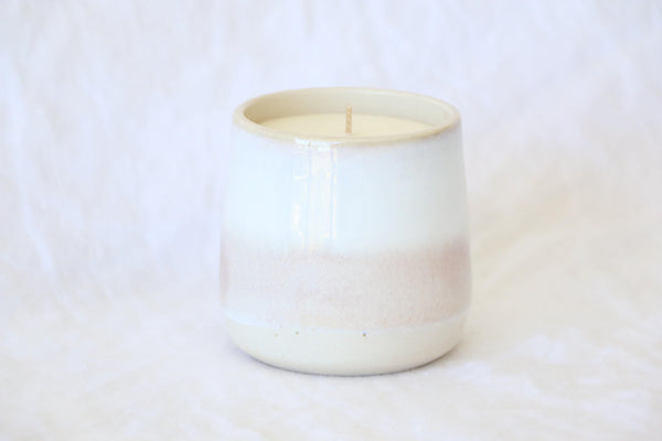 """Pink Salt"" Ceramic Tumbler Candle"