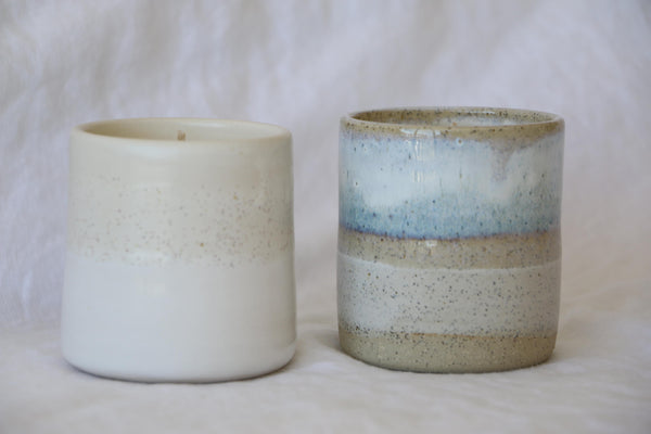 """Pebble"" Ceramic Cup Candle"
