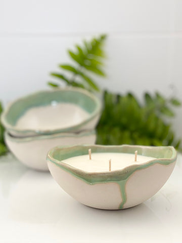 """Fern"" Ceramic Bowl Candle"