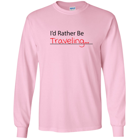 I'd Rather Be Traveling Long Sleeve T-Shirt - Pen & Passport