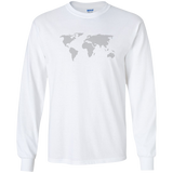 World Map Long Sleeve T-Shirt - Pen & Passport