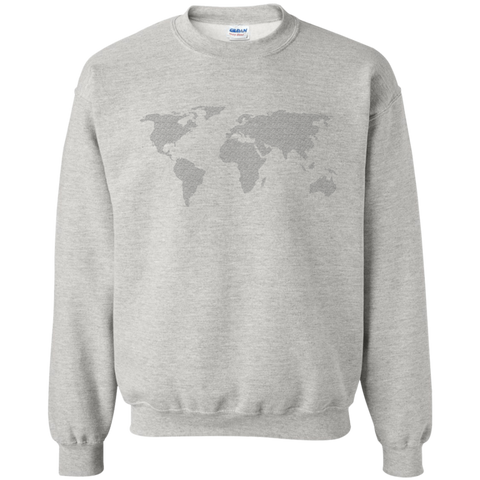 World Map Crewneck Sweatshirt - Pen & Passport