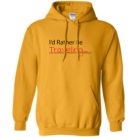I'd Rather Be Traveling Hoodie - Pen & Passport
