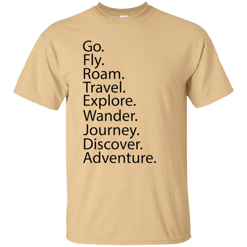 Go. Fly. Roam. T-Shirt - Pen & Passport