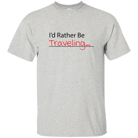 I'd Rather Be Traveling T-Shirt - Pen & Passport