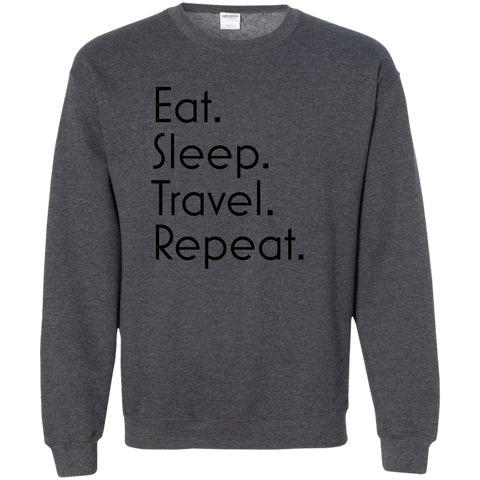 Eat Sleep Travel Repeat Crewneck Sweatshirt - Pen & Passport