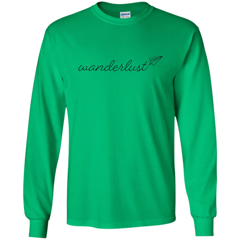 Wanderlust Long Sleeve T-Shirt - Pen & Passport