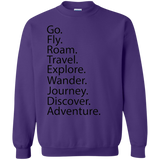 Go. Fly. Roam. Crewneck Sweatshirt - Pen & Passport