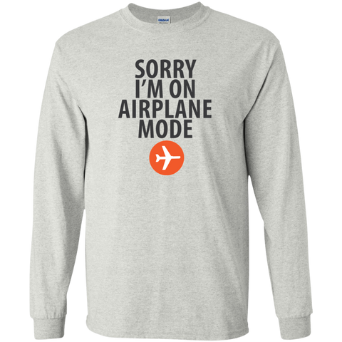 Airplane Mode Long Sleeve T-Shirt - Pen & Passport