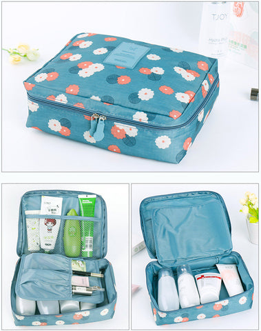 Travel Makeup & Toiletry Organizer - Pen & Passport