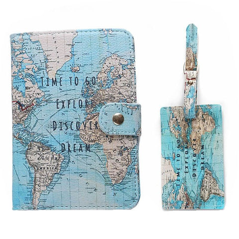 Matching Passport & Luggage Tag Combo - Pen & Passport