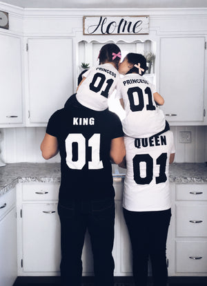 King & Queen & Prince & Princess T-shirt