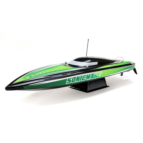 "Pro Boat Sonicwake 36"" Self-Righting Brushless Deep-V RTR, Black"