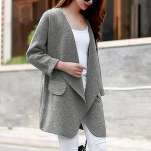 Warm Long Sleeve Knitted Wool Cardigan