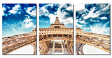 "Eiffel Tower Portrait on HD Metal Thickness .045"" - 3 Piece Set"