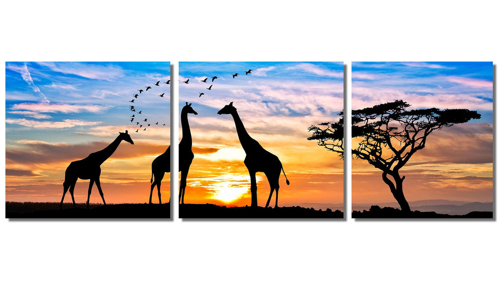 "Safari Wild Life Portrait on HD Metal Thickness .045"" - 3 Piece Set"
