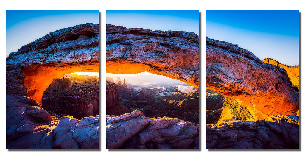 "Mesa Arch Portrait on HD Metal Thickness .045"" - 3 Piece Set"