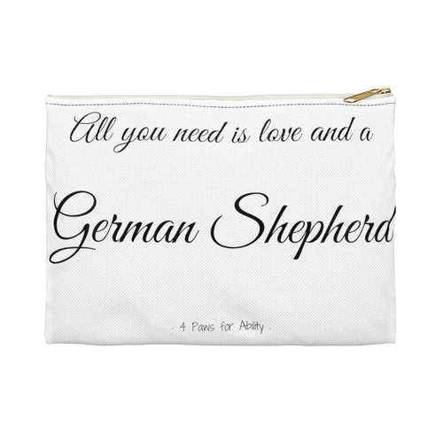 Print on Demand - Love and A German Shepherd Zipper Pouch