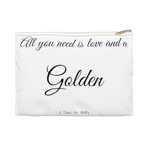 Print on Demand - Love and A Golden Zipper Pouch