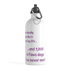 Print on Demand - 1,000 Dogs Stainless Steel Water Bottle