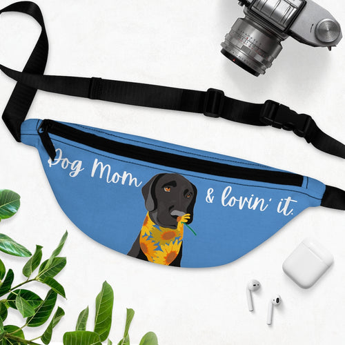 Print on Demand - Dog Mom Black Lab Fanny Pack