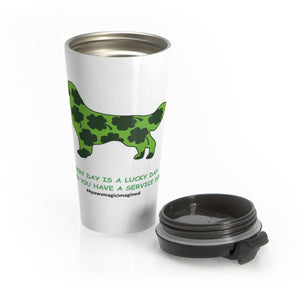 Print on Demand - Lucky SD Golden Stainless Steel Travel Mug