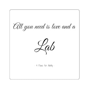 Print on Demand - Love & a Lab Sticker