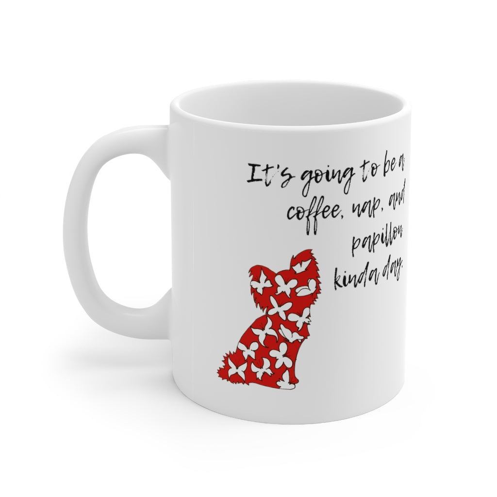 Print on Demand - Coffee, nap, and papillon Mug