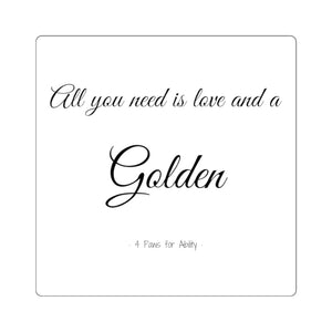 Print on Demand - Love & a Golden Sticker