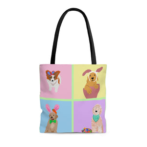 Print on Demand - Easter Pups Tote Bag